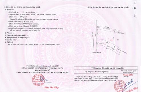 Chính chủ kẹt tiền cần bán gấp miếng đất vị trí đẹp nhất dự án Khu công nghiệp Becamex Bình Phước - Huyện Chơn Thành.